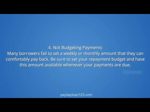 Top 5 Things to Avoid When Applying for a Pay Day Loan (Texas Payday Loans)