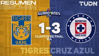 Resumen y goles   Tigres 1-3 Cruz Azul   Cuartos IDA - Guard1anes 2020 Liga Mx   TUDN