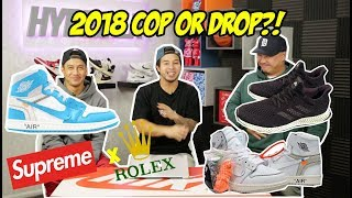 UPCOMING 2018 SNEAKERS & FASHION - COP OR DROP?!