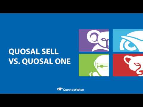 ConnectWise Sell vs Quosal One