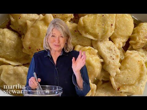 Martha Stewart Makes Pierogi From Big Martha?s Recipe | Homeschool with Martha - II | Everyday Food