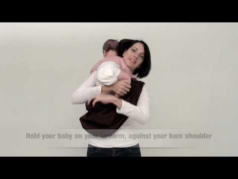 Tummy to Tummy Carry - HugaMonkey Baby Sling
