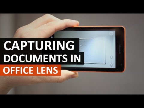 Capturing documents with Office Lens