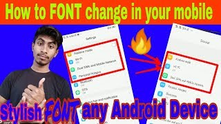 How to change *FONT* style in any vivo mobile  l Mobile pe Font change kayse Kare?🔥