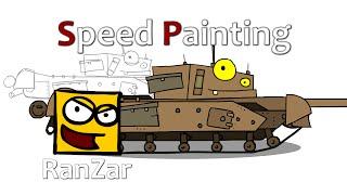 Speed Paint Sherman Черчилль ГК. RanZar. Рандомные Зарисовки.