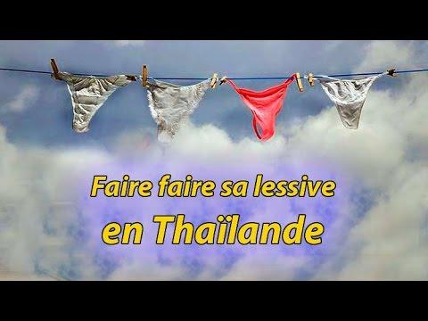 faire sa lessive en thaïlande