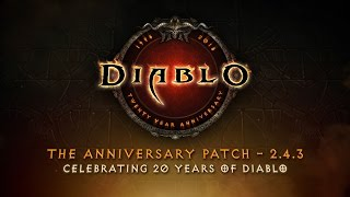 Diablo 20th Anniversary Patch goes live