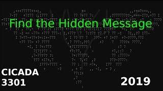 CICADA  3301 2019 - hardest puzzle on the internet