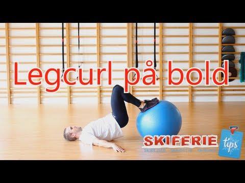 Skitræning - Øvelser til skiferie # 4 af 7 - Leg curl på bold - Skiferietips.dk