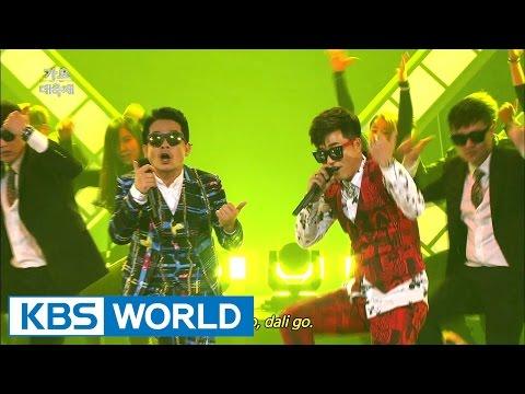 Kim JunHo & Kim JongMin - The Zombie / Sali Go Dali Go [2014 KBS Song Festival / 2015.01.14]