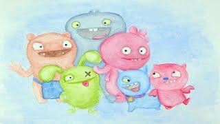 Ukelele Kids Happy Music Instrumental Bouncy Nursery Songs | UglyDolls Watercolor