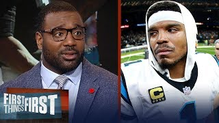 Chris Canty reacts to Kelvin Benjamin's critical comments on Cam Newton | NFL | FIRST THINGS FIRST
