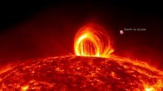 NASA | Fiery Looping Rain on the Sun