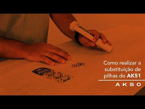 Como realizar a substituição de pilhas do AK51?
