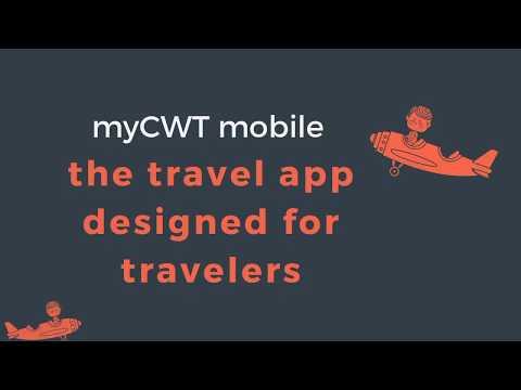 myCWT mobile app - simplifying travel