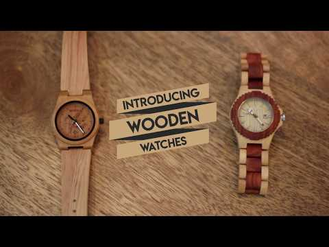 Handcrafted Wooden Wrist Watch For Women