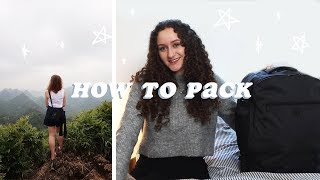 How to pack - backpacking Asia for 4 months
