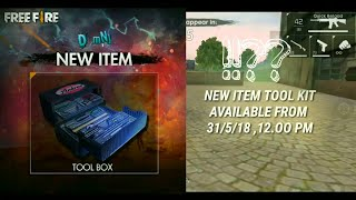 NEW TOOL BOX -  HOW TO USE IT?? | FREE FIRE BATTLEGROUNDS