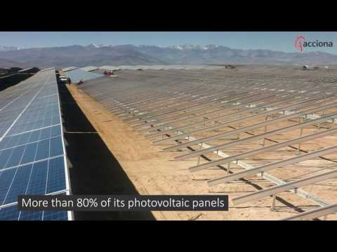 Installation of photovoltaic panels at El Romero, Chile