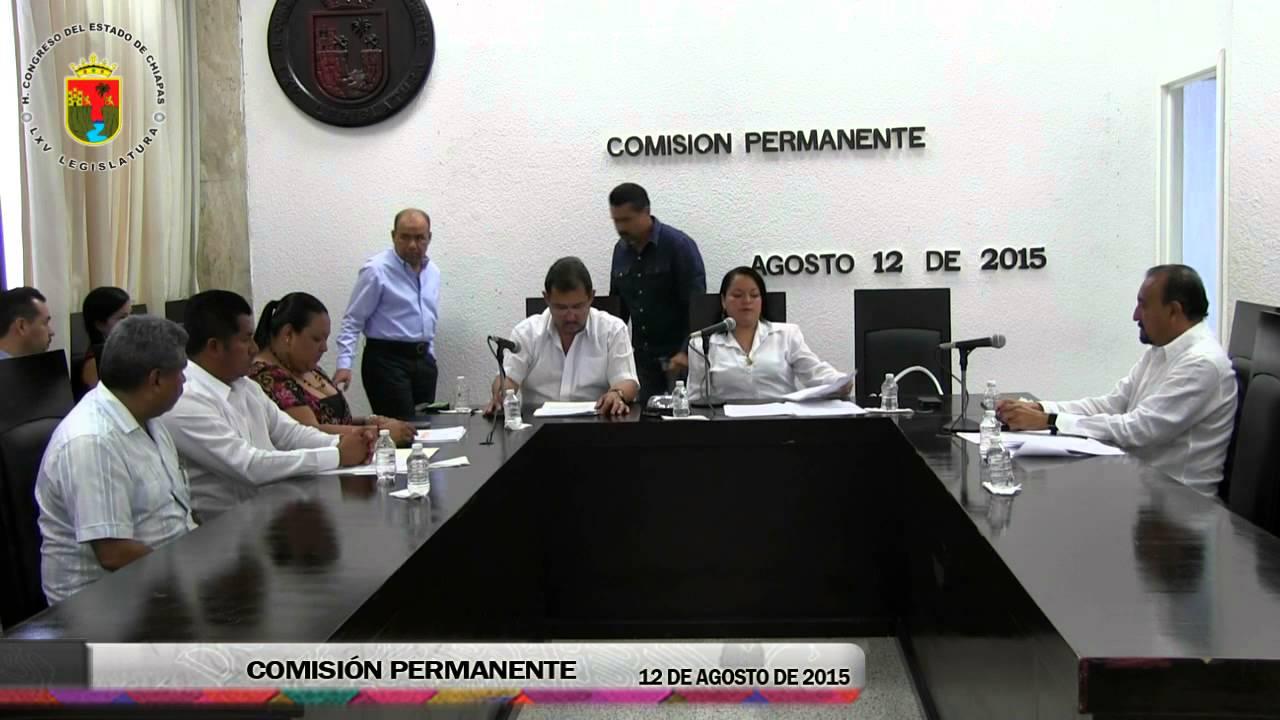 Comisión Permanente 12 de Agosto de 2015