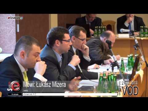 XXXIII sesja Rady Miejskiej Grudziądza