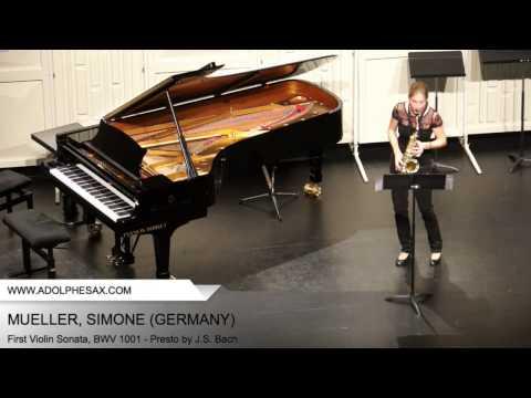 Dinant 2014 - Mueller, Simone - First Violin Sonata, BWV 1001 - Presto by J.S. Bach