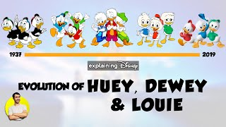 Evolution of HUEY, DEWEY & LOUIE Over 82 Years (1937-2019) Explained