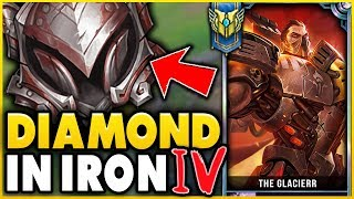 I TOOK MY DARIUS INTO IRON 4 FOR THE FIRST TIME! DIAMOND DARIUS VS IRON ELO! - League of Legends