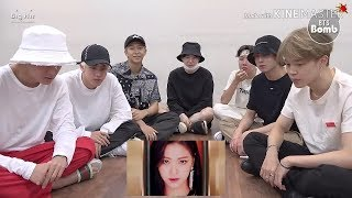 BTS REACTING TO ITZY 'DALLA DALLA' MV WITH SUBS (FMV)