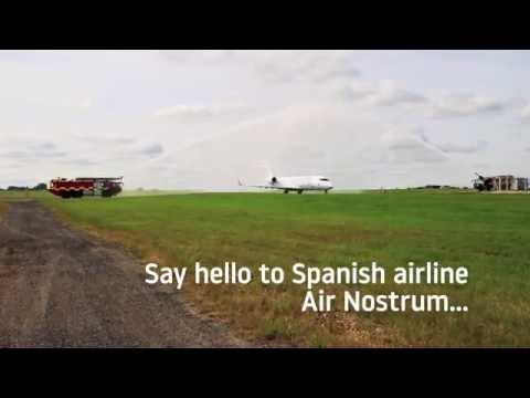 Celebrating the launch of Air Nostrum flights to San Sebastian