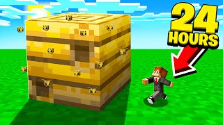 24 HOURS Challenge in a GIANT BEE NEST! (Minecraft)