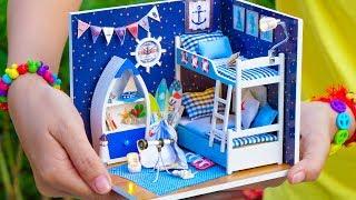 DIY Miniature Doll House Bunk Bed Bedroom #2