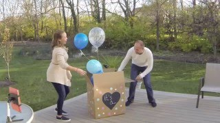 SURPRISE Baby Announcement (w/hidden cameras) AND Baby Gender Reveal!!