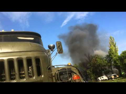 Вертолеты расстреливают ВВ под Волновахой, 22.05