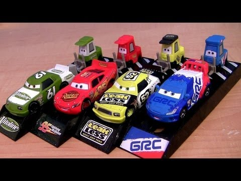 Cars 2 Pit Crew Launchers Raoul Caroule Pitty Lightning McQueen, Leak Less Disney Pixar 2013 Racers - Smashpipe Entertainment Video