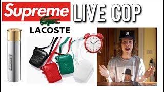 Supreme Lacoste Week 9 Live Cop! Supreme S/S '18 Week 9 Manual Checkout!
