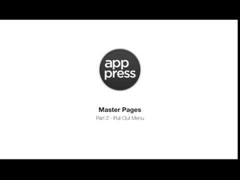 App Press | Using Master Pages part 2 - Slide out menu