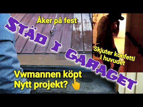 Vlogg - Städar garaget, fest & Vwmannens nya projekt?