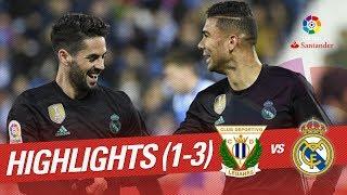 Resumen de CD Leganés vs Real Madrid (1-3)