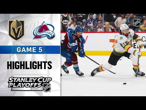Second Round, Gm 5: Golden Knights @ Avalanche 6/8/21   NHL Highlights