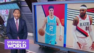 Stephen A. goes off on the LaMelo-Carmelo name debate: 'There is no battle!' | Stephen A's World