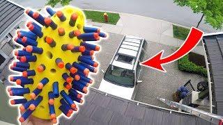 NERF NUKE vs SUV from 45FT!