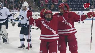 Dhooghe's Hat-Trick Helps Badgers Take Down Penn State in Game 1 of B1G Quarterfinals