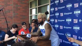 Giants WR Odell Beckham explains why he skipped OTA workouts