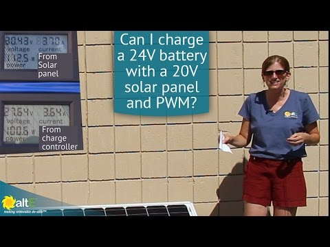Sixty cell solar panels, a.k.a. 20V solar panels, are commonly known as grid-tie solar panels, as they are most often used in grid-tie solar systems without batteries. We compare charging a 24V deep cycle battery bank with a 20V solar panel and a 24V solar