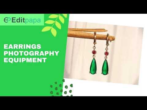Earrings Photography equipment || Edit papa