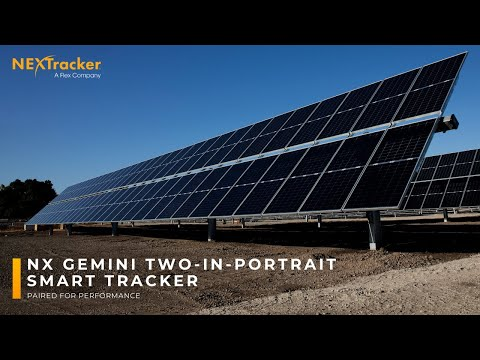 Animation: Introducing NX Gemini two-in-portrait smart solar tracker.