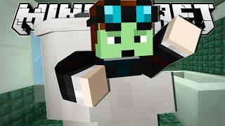 Minecraft | JUMPED INTO A TOILET!! | Tall Dropper Custom Map