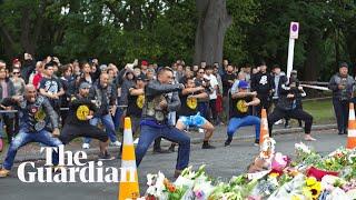 Biker gang performs haka in tribute to Christchurch shooting victims