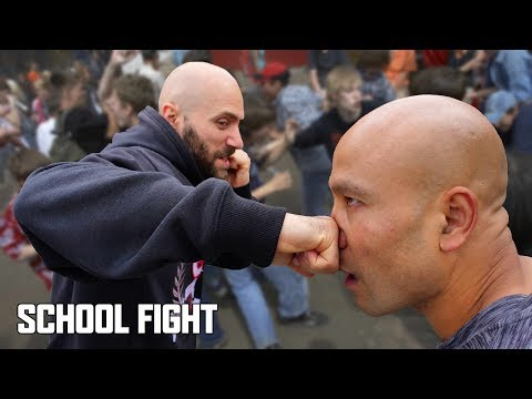 How do you defend yourself in a school fight?